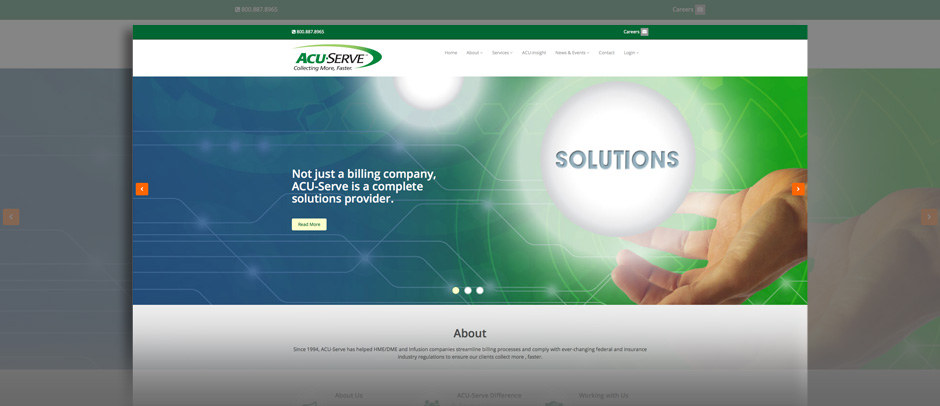 ACU-Serve - Website